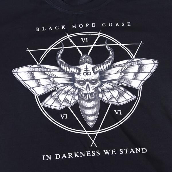 InstaHot Black Harajuku Loose T-Shirt Women Gothic Punk Darkness Pattern Printed Summer Streetwear tshirt Halloween Festival Tee 4