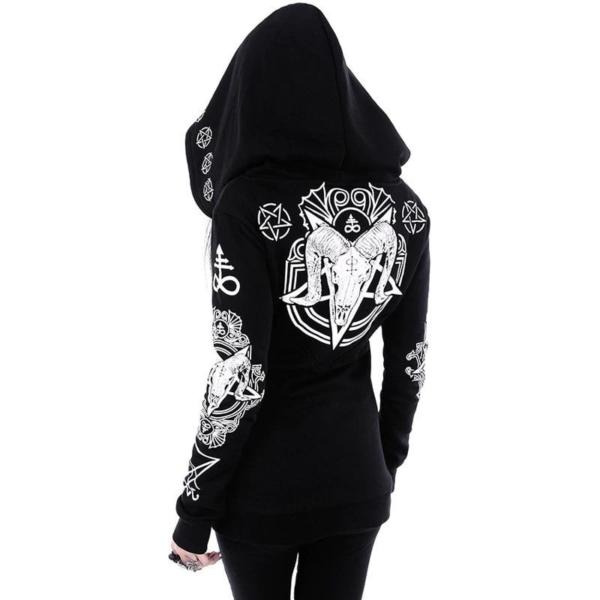 Goth Hoodie Oversized with pentagram 2
