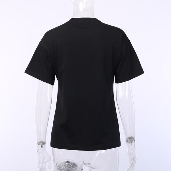 InstaHot Black Harajuku Loose T-Shirt Women Gothic Punk Darkness Pattern Printed Summer Streetwear tshirt Halloween Festival Tee 5