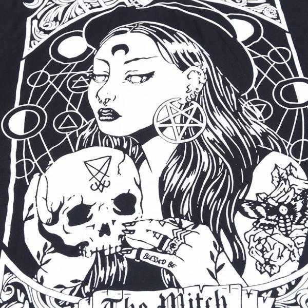 InstaHot Cloak Batwing Sleeve Loose T Shirt Gothic Punk Black Halloween Top Harajuku Women Autumn Summer Aesthetic T shirt 5