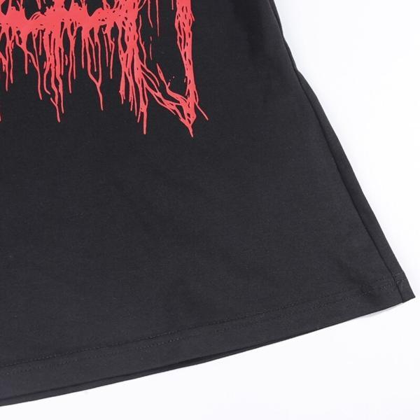 InstaHot Short Sleeve Casual T-shirt Spider Pattern Gothic Punk Loose Harujuku Tshirts Halloween Festivals Tee Tops Women Summer 4