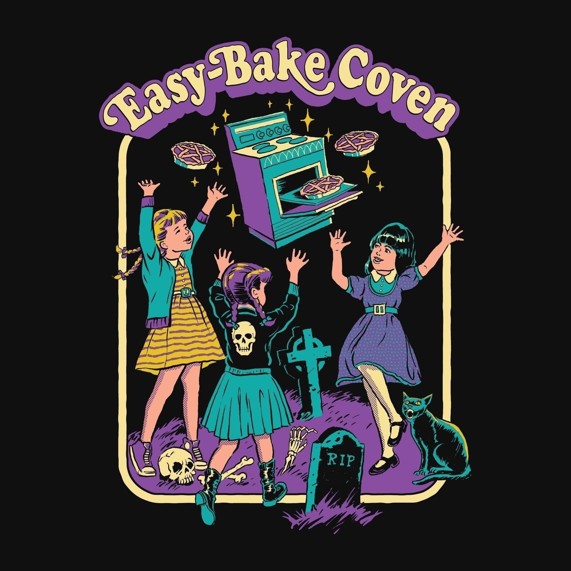 hahayule j1pcs Black Tshirt Easy Bake Coven Illustration T-Shirt Unisex  Gothic Grunge Printed Tee Witch Shirt Halloween Clothing – Gothic and Witch