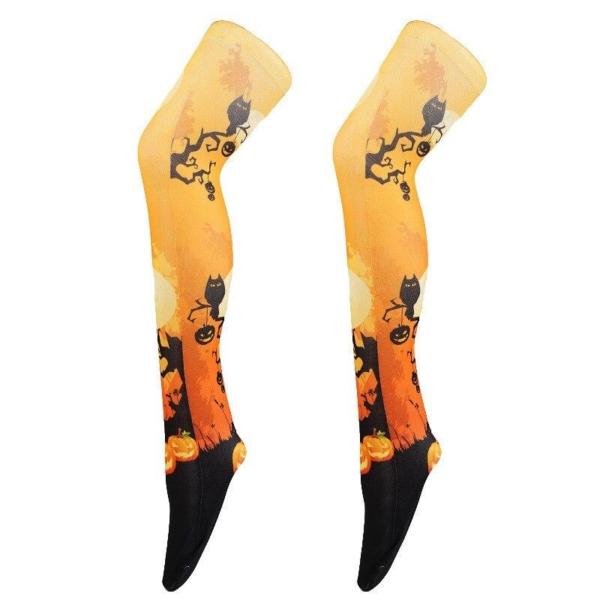 Cross border special for Halloween socks 3D digital printing stockings printed silk stockings heat transfer printing stockings 1
